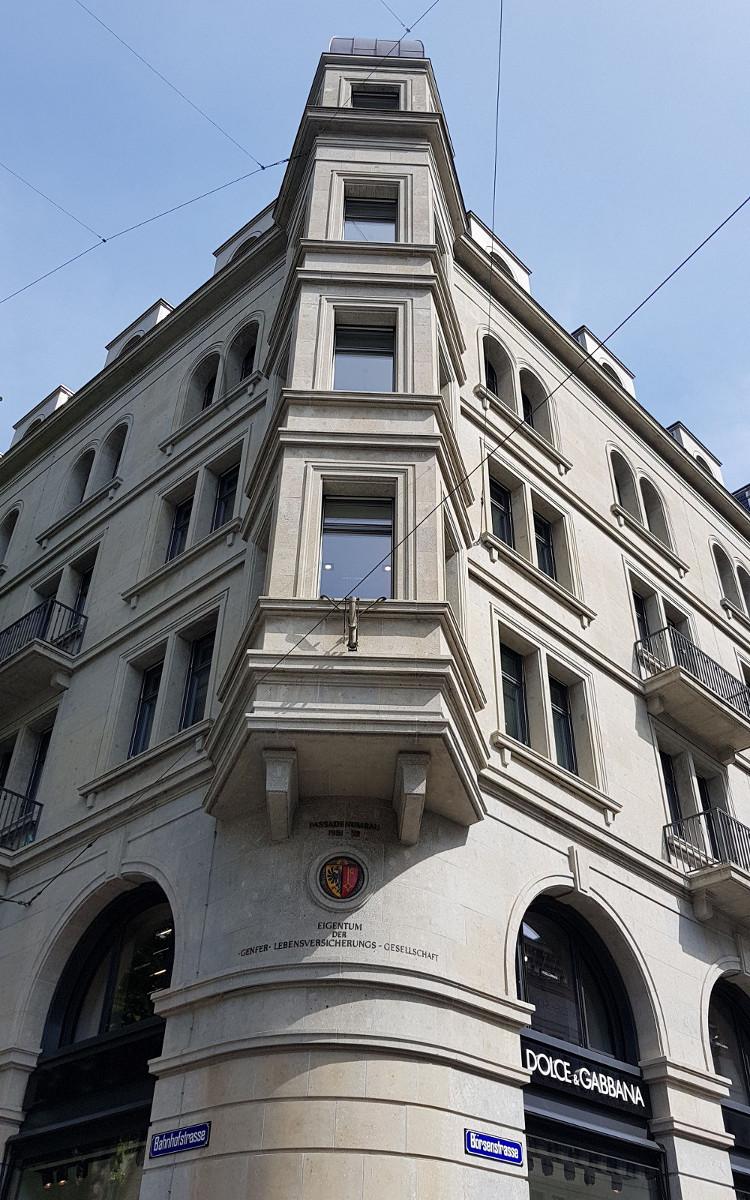 Building Gryffenberg Corner Bahnhofstrasse 10 - Börsenstrasse 18