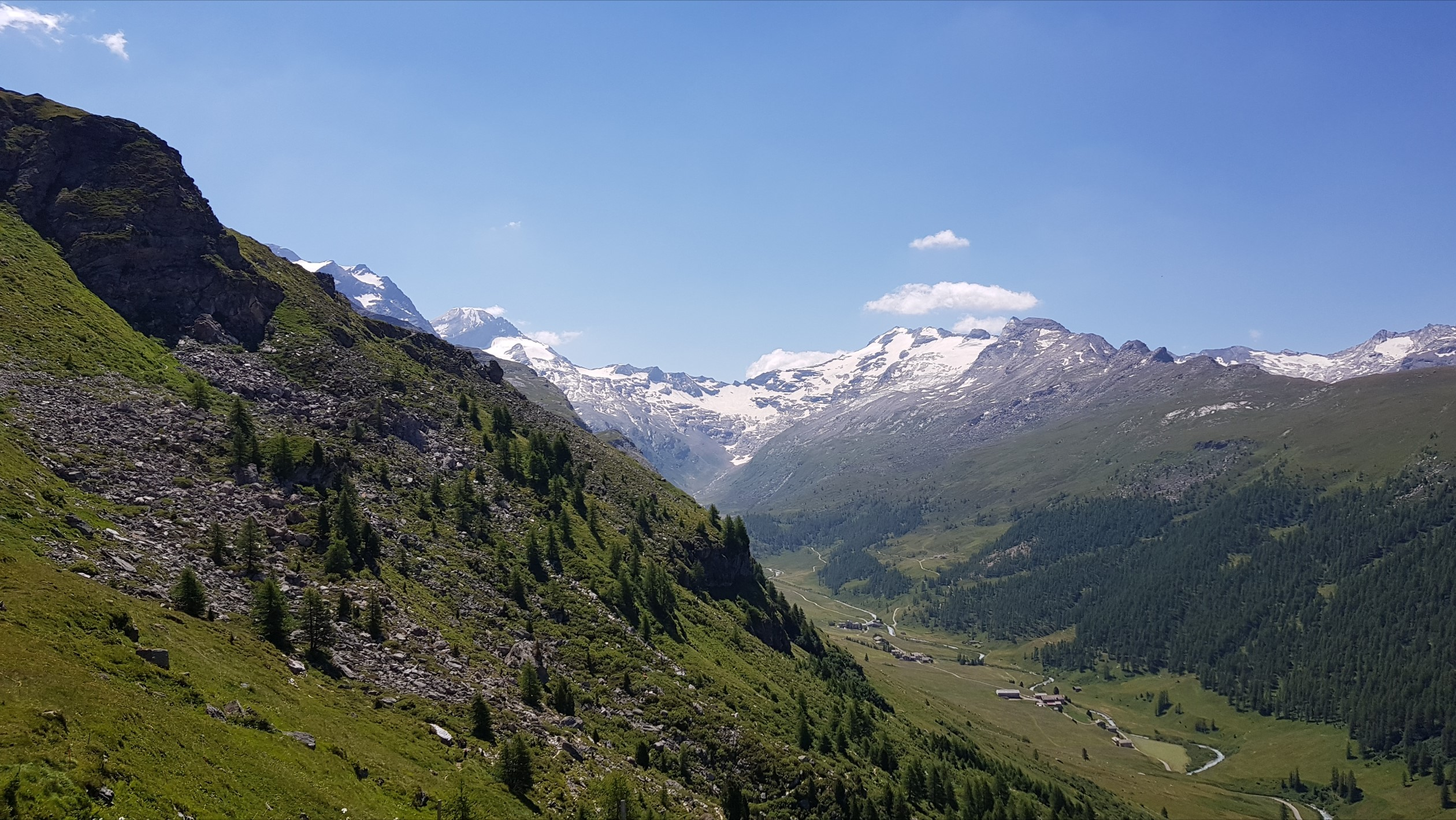 Engadine, Sils, Furtschellas, Marmore view into Val Fex
