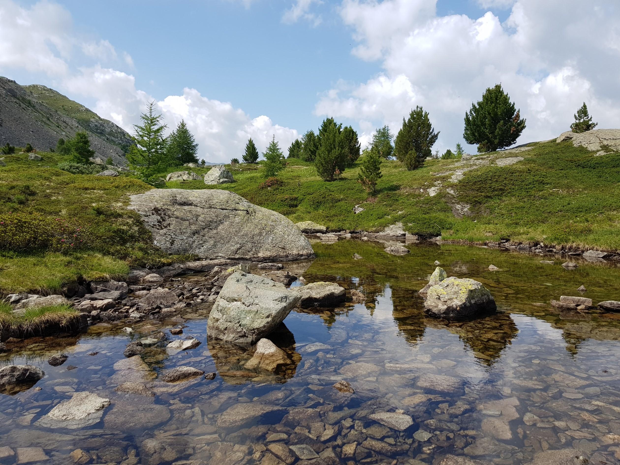 Engadine, St. Moritz, Hahnensee, above Lej dals Chöds