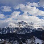 Engadine, St. Moritz, Salastrains view on St. Moritz