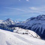 Engadine, St. Moritz, Corviglia view on Funicular