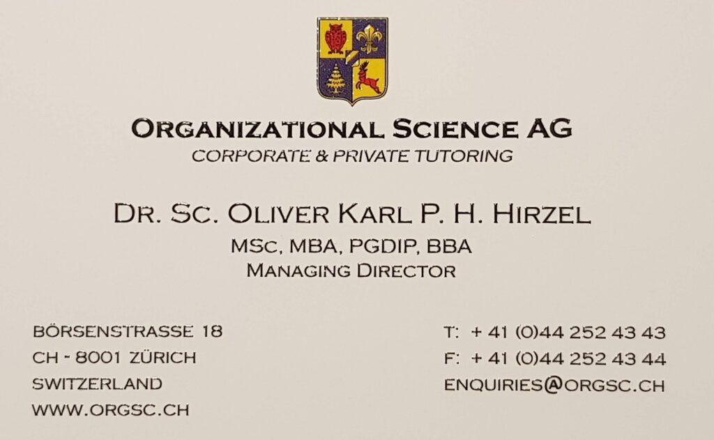 Dr. Oliver Hirzel