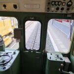 Engadine, Bernina Express, Historic Train2, view of cockpit, Pontresina