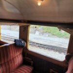 Engadine, Bernina Express, Historic Train5, Compartment with Organizational Science AG Logo, Pontresina, Alp Grüm