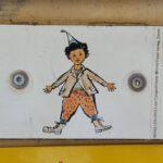 Engadine, Guarda, Schellen Ursli Signpost