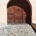 Engadine, Guarda, typical house door