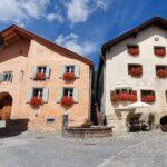 Engadine, Guarda, typical houses