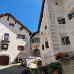 Engadine, Guarda, typical houses2