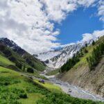 Engadine, National Park, S-chanf, Varusch, Val Trupchun, Alp Trupchun, view on Fuocla Trupchun