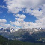 Engadine, Pontresina, Alp Languard, view on St. Moritz and Corviglia