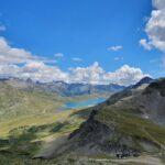 Engadine, Pontresina, Diavolezza, view on Lej da Diavolezza, Lej Pitschen, Lej Nair and Lago Bianco