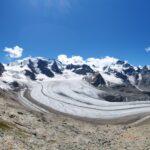 Engadine, Pontresina, Diavolezza, view on Pers Glacier, Piz, Bernina, Piz Palü, Piz Cambrena, Isla Persa