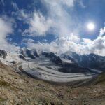 Engadine, Pontresina, Diavolezza, view on Pers Glacier, Piz Palü