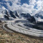 Engadine, Pontresina, Diavolezza, view on Pers Glacier, Piz Palü, Piz Cambrena, Isla Persa