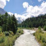Engadine, Pontresina, Morteratsch river