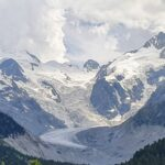 Engadine, Pontresina, Morteratsch, view on Glacier, Piz Bernina, Bellavista