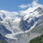 Engadine, Pontresina, Morteratsch, view on Glacier, Piz Bernina, Bellavista, Spuondas Chapütschöl