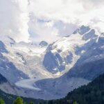 Engadine, Pontresina, Morteratsch, view on Piz Bernina