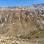 Engadine, Samaden, Muottas Muragl, Tschimas da Muottas, view in direction Val Champagna