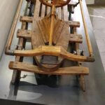 Engadine, Samaden, Muottas Muragl, old wooden Sledge