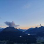 Engadine, Samaden, Muottas Muragl, view on Stazersee, St. Moritzersee, Lej da Champfer, Lake Silvaplana, Lake Sils