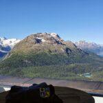 Engadine, Samaden, Muottas Muragl, view on Val Roseg, Stazersee, Lej da Staz, St. Moritz Lake, Lej da Champfer, Silvaplanersee, Silsersee with Organizational Science AG Logo