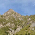 Engadine, Samnaun Dorf, view on Piz Ot