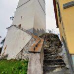 Engadine, Scuol, Ftan, Church tower