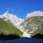 Engadine, Scuol, Val S-charl, view on Piz Pisoc