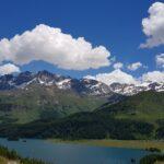 Engadine, Sils, Bragalur, view in direction Alp Petpreir