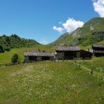 Engadine, Sils, Grevasalvas, view in direction Grevasalvas houses