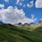 Engadine, St. Moritz, Corviglia, Marguns view in direction Piz Corviglia