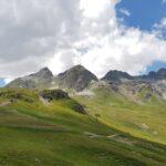 Engadine, St. Moritz, Corviglia, Marguns view in direction Piz Glüna