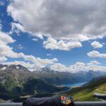 Engadine, St. Moritz, Corviglia, view in direction Piz Murtèl, with Organizational Science AG Logo
