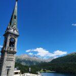 Engadine, St. Moritz Dorf, Church Tower1
