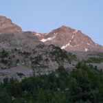 Engadine, St. Moritz, Hahnensee, above Lej dals Chöds, view in direction Piz da l'Ova Cotschna and Piz San Gian1