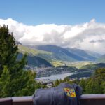 Engadine, St. Moritz, Hahnensee, above Lej dals Chöds, view in direction St. Moritz, with Organizational Science AG Logo
