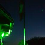 Engadine, St. Moritz, Hahnensee green position light at work