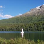 Engadine, St. Moritz, Lake of St. Moritz