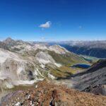 Engadine, St. Moritz, Piz Nair, view on Piz Nair Pitschen and Val Bever