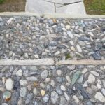 Engadine, Val Müstair, Saint John Abbey, Müstair, Chapel of the Holy Cross entrance stairs