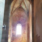 Engadine, Val Müstair, Saint John Abbey, Müstair, Church interior with Frescos one