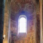 Engadine, Val Müstair, Saint John Abbey, Müstair, Church interior with Frescos three