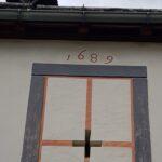 Engadine, Val Müstair, Saint John Abbey, Müstair, roof to inner yard