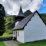 Engadine, parallel Valley Sertig, Sertig Dörfli, Church