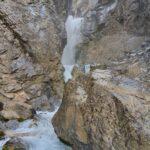 Engadine, parallel Valley Sertig, Sertig water cascade