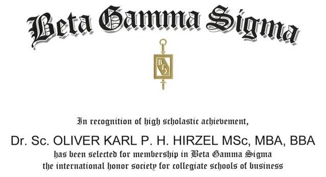 beta_gamma_sigma DR. OLIVER HIRZEL